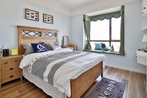 臥室飄窗簾裝修效果圖 臥室飄窗設計圖片大全 簡約美式臥室裝修
