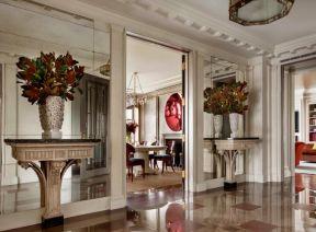 門廳背景墻 門廳過道裝修設計 門廳過道效果圖