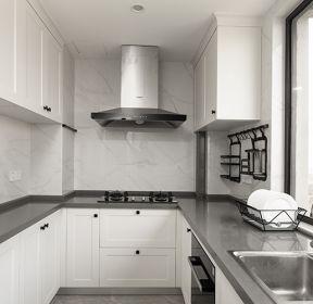 三居110平现代美式风格厨房装修效果图-每日推荐