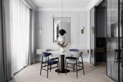 三居120平現代簡約風格餐廳設計圖欣賞