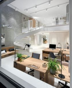 上海極簡風格辦公室展廳設計裝修效果圖