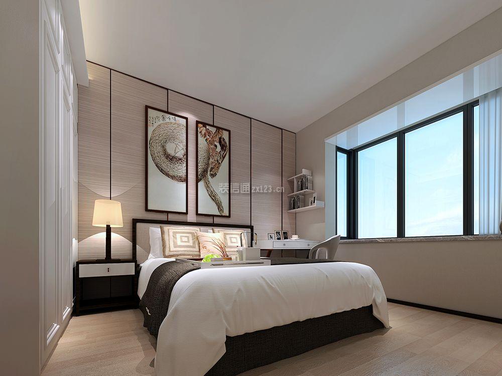 中旅广场新中式风格150平三居室装修效果图