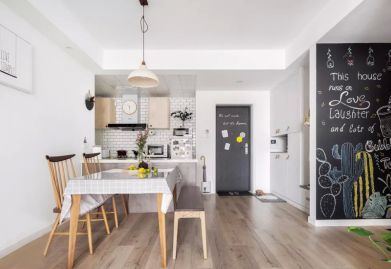 瑞安ballbet贝博网站78㎡北欧风二居室,白灰与木色构造舒适小窝!