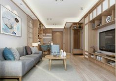 翡麗國際110平米三居室日式風格裝修設計效果圖