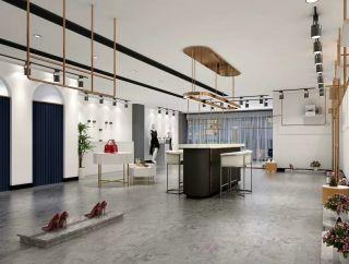 豐城品牌女裝店輕奢風格360平米裝修效果圖案例