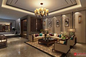 三居室190平新中式风格家装案例