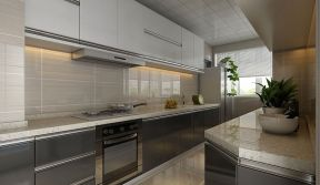 長方形廚房設計 長方形廚房裝修 一字型廚房設計圖 一字型廚房裝修圖片