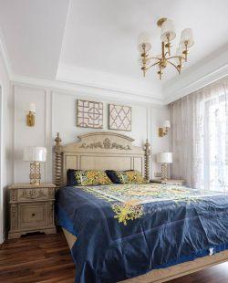 三居113平美式風格臥室裝修效果圖