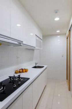 50平現代風格兩室一廳長方形廚房裝修圖