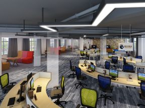 办公室办公区装修效果图 办公室办公区