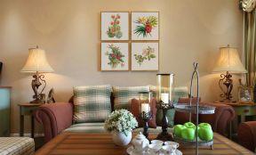 美式田園風格客廳裝修效果圖 美式田園風格客廳效果圖