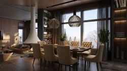 四居140平現代風格餐廳裝修效果圖