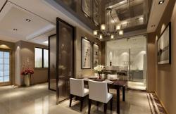 四居149平現代簡約風格餐廳裝修設計圖
