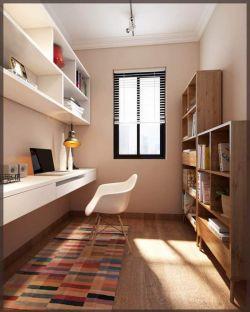 二居93平現代簡約風格書房裝修圖