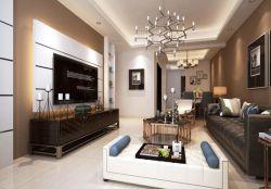 二居93平現代簡約風格客廳裝修圖
