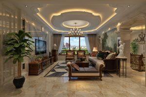 190平美式风格别墅家装案例