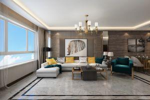 三居室143平现代风格家装案例