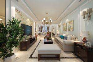 三居室138平美式风格家装案例