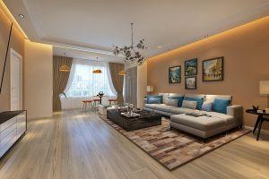 三居室159平现代风格家装案例