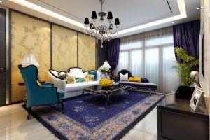 三居室104平法式风格家装案例