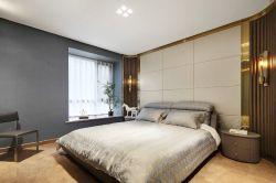 成都128平樣板房臥室床頭造型裝修設計圖