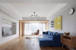 合肥148平北歐風格新房客廳實木地板設計圖
