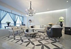 深圳現代簡約樣板房客廳裝修布局圖片