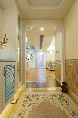 深圳地中海風格樣板房玄關地磚裝修裝飾圖