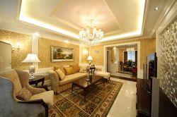 深圳美式風格樣板房客廳裝修設計實景圖