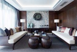 深圳樣板房裝修室內客廳擺放效果圖大全