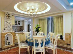 深圳樣板房地中海風格餐廳吊燈裝修圖片一覽