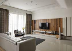 深圳現代簡約風格客廳電視墻設計裝修圖2019