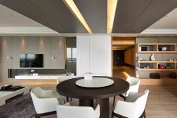 現代簡約餐廳120平三居裝修設計圖