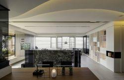 現代簡約餐廳三居120平裝修設計圖