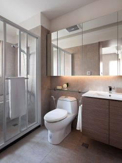 現代簡約衛生間三居110平裝修設計圖