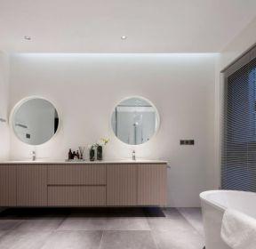 天津现代风格家庭别墅浴室装修设计图2020-每日推荐