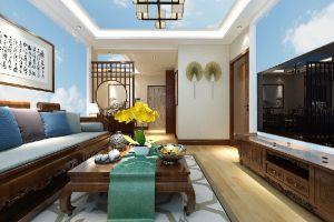 海富康城中式风二居100平装修案例