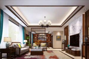 世纪村别墅199平新中式风格装修案例