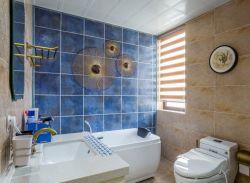 貴陽大戶型新房衛生間背景墻磚裝修效果圖片