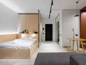 40平小户型设计 40平小户型装修案例  简约卧室效果图 简约卧室装修