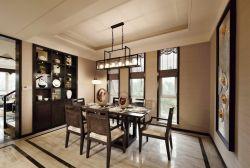 東莞新中式別墅餐廳壁柜裝修設計圖