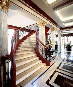 别墅楼梯设计图片 别墅楼梯装修效果图 别墅楼梯装修图