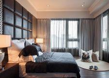 广州现代风格卧室室内软包背景墙装修图