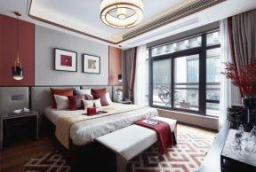 新中式卧室装修效果图 新中式卧室设计 新中式卧室设计图