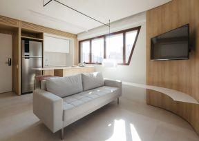 客厅电视墙效果图2019 公寓客厅装修   公寓客厅效果图片大全
