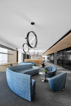 上海寫字樓辦公室接待區沙發裝修裝潢圖片