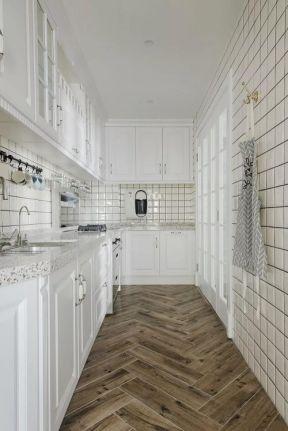 美式風格廚房設計圖 美式風格廚房