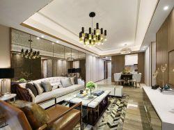 昆明128平樣板房客廳吊頂裝修設計圖