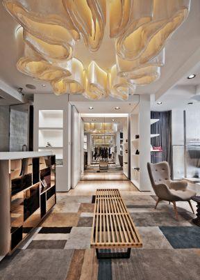 服裝店前臺設計  現代服裝店設計  服裝店室內裝修設計