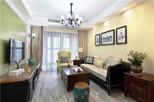 壹号公馆美式风格125平米三居室装修案例
